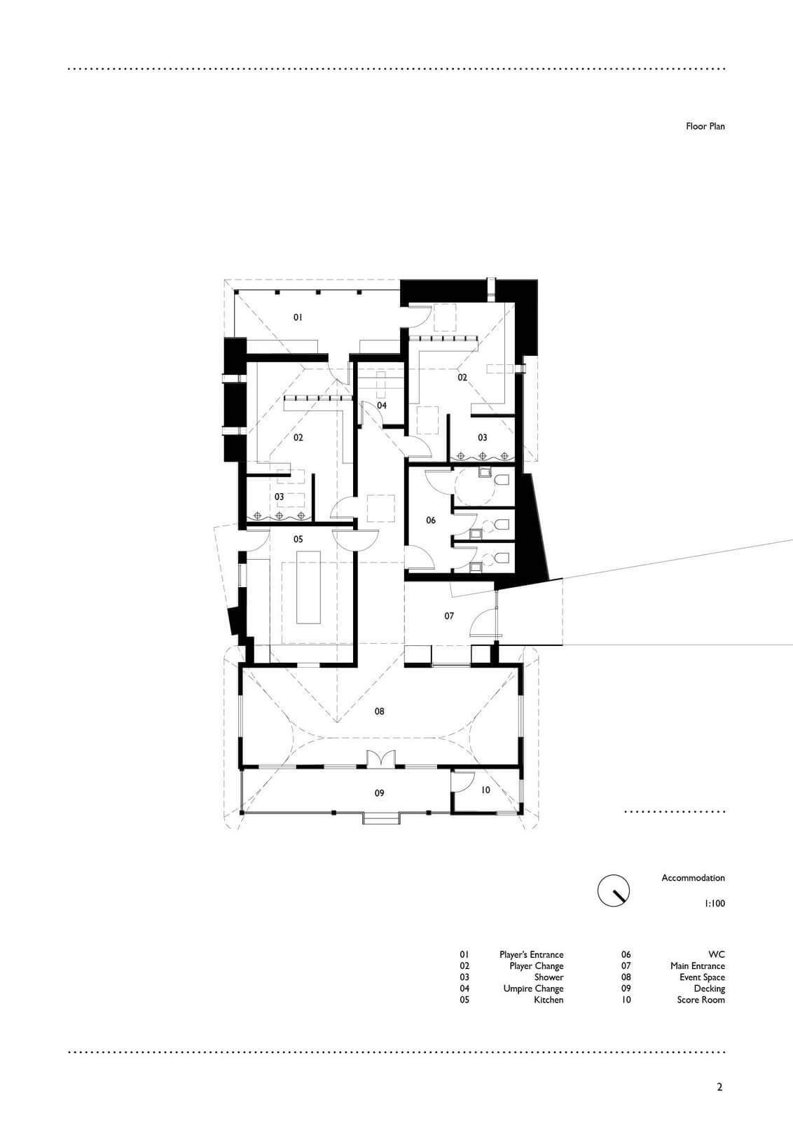 Goodwood Cricket Pavilion Elevation Proposed B2